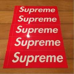 正規品 Supreme BOX ロゴ ステッカー 5枚セット ボックス
