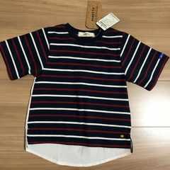 新品タグ付き110半袖Tシャツ 後ろ長めシャツタイプ