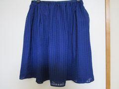 Vis/ヴィス 春夏シフォンチェックギャザースカート 美品!タグあり