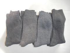 靴下 ソックス 19-21cm チャコールグレー 19足セット 中古品
