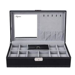 ジュエリーボックス 鍵付き 腕時計収納 8本