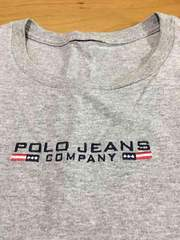 美品!POLO JEANS  グレー半袖Tシャツ!