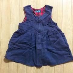 ワンピース☆ジャンパースカート パープル 日本製