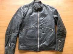 ヴィンテージ フランス製 パデッド ライダースジャケット M