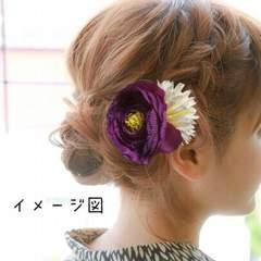 髪飾り ヘアアクセサリー ヘアピン ハンドメイド 浴衣夏祭レトロ