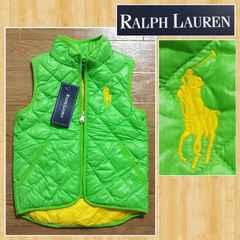購入22000円 RALPH LAUREN ラルフローレン ダウンベスト ビッグポニー 100cm