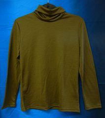未使用 �鰍竄ャ製 長袖とっくりシャツ サイズL