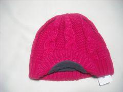 wb454 女 RIP CURL リップカール つば付き ニット帽 チェリー