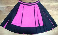 ボディドレッシング黒&ピンクプリーツミニスカート美品パンクロリィタ