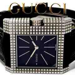 良品 1スタ★グッチ/Gucci【スイス製】9万以上 メンズ腕時計