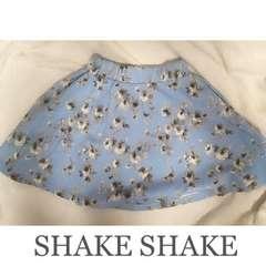 【期間限定SALE】SHAKE SHAKE フラワーフレアスカート Blue