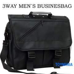 新品 3WAY ビジネスバッグ リュック メンズ ショルダーバッグ 黒 メンズ