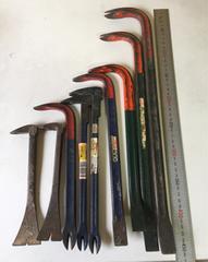 バール 9本セット 解体バール バラシ工具 釘抜きツール