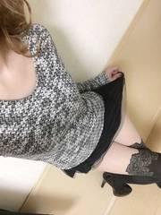 ツイード風ニット☆裾フリ�Aチュールレース☆お洒落なチュニック