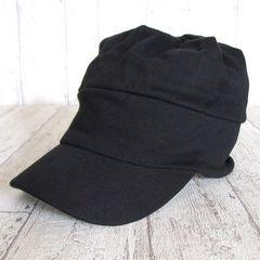 帽子♪オールシーズン スウェット ワークキャップ  ブラック