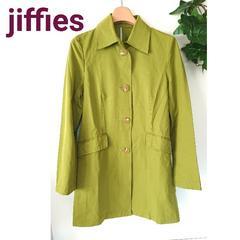 jiffies ジフィズ ステンカラー コート ライム グリーン 抹茶