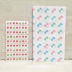 【NEW】ラッピング紙袋 2種類37枚セット/リボン柄/りんご柄