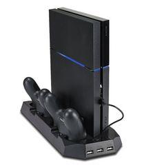 1台5役 PS4 多機能縦置きスタンド  2台同時充電 USBハブ3ポート