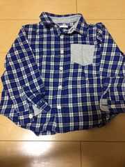 110センチ/ネルシャツ