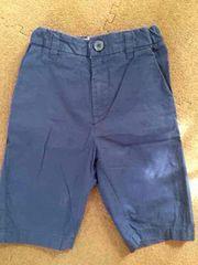 中古美品H&Mキッズ男女兼用半ネイビーズボン短パン110cm