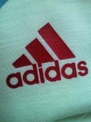 adidas アディダス ジャージ 上着 ジャケット ジャンパー 白 赤 Oサイズ 蛍光