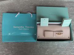 新品箱付★サマンサタバサプチチョイス&リボン牛革長財布¥22680