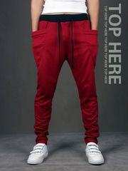 超人気のジョガーパンツ レッド XLサイズ メンズ スウェット 赤