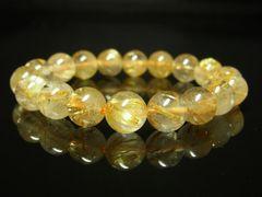 金針水晶パワーストーン タイチンルチルクォーツブレスレット 10ミリ 天然石数珠