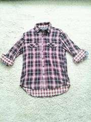 美品!!BEAMS七分チェックシャツ