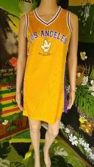 NBAユニフォーム風■ミッキーハンドサイン×メッシュミニワンピ