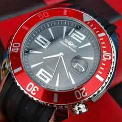 超美品◆鑑済◆シャルル新/ダイバーズウォッチ♪100m防水腕時計