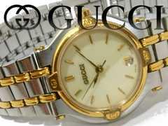 【美品】1スタ★グッチ/Gucci 定価7万 9000L【スイス製】腕時計