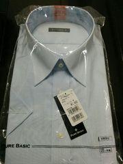 新品 半袖カッターシャツ ブルー 3L