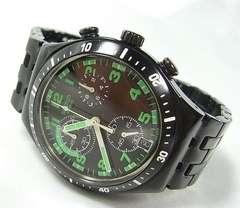 ◆本物確実正規スウォッチ IRONYクロノグラフメンズ腕時計