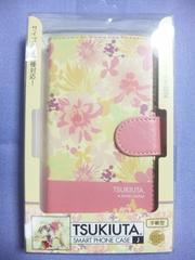 ツキウタ。月歌屋限定手帳型スマートフォンケース陽夜淡い花