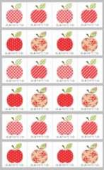 *□ありがとうシール★B-3*りんご…4種24枚♪
