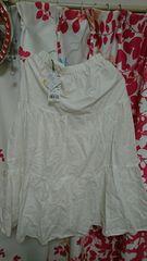 大きいサイズ23区マキシ丈スカート新品タグ付きシワあり。