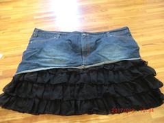 大きいサイズ 114cm 可愛い フリルミニスカート