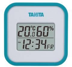 タニタ デジタル温湿度計 マグネット付 ブルー