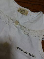 新品★『bebe』襟レース ノースリシャツ =95= 白