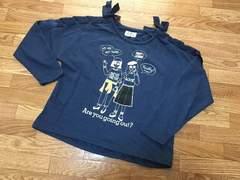 USED DAISYLOVERS 肩編上げリボン長袖Tシャツ☆140