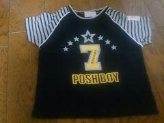 110 POSH BOY 黒のTシャツ 美品