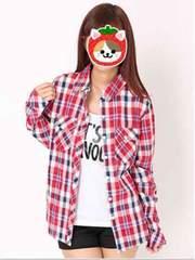 M:CECILMcBEEセシル新品2way赤チェックシャツM★カジュアル系