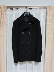 アタッチメント ATTACHIMENT ウールメルトンPコート黒 KAZUYUKI KUMAGAI