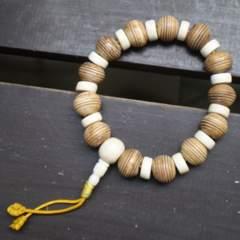13ミリ玉 水牛骨製ブレスレット・数珠