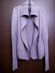 ◆リックオウエンス ドレープ ウール カーディガン ジャケット