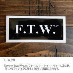 【送料無料】COOLBIKERS スラング・ステッカー/F.T.W.