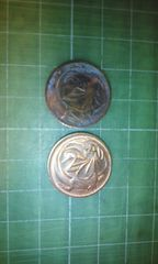 豪2セント硬貨×2枚(1972・1984年各1枚)♪