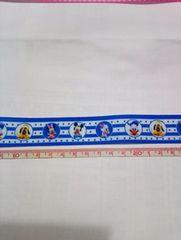 約22mm巾 ベビーミッキー&ミニー&ドナルド柄リボン1M