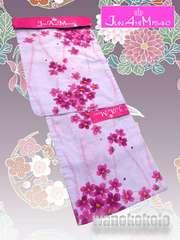 【和の志】ブランド浴衣◇JAM◇薄藤色系・立涌に小花◇JAM29